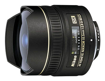 Nikon 10.5mm f/2.8G AF DX ED Fisheye