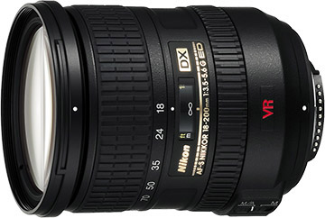 Nikon 18-200mm f/3.5-5.6G AF-S IF-ED DX VR