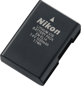 Extra EN-EL14 Battery for Nikon D3100, D5100, D5200