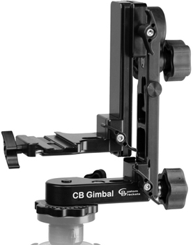 Custom Brackets Gimbal Head with Arca-Type Quick Release Base (Requires Plate)