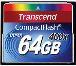 64GB 400x UDMA CompactFlash Memory