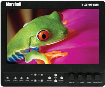 "Marshall V-LCD70XP-HDMI 7"" LCD Field Monitor w/Battery"