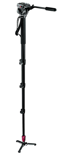 Manfrotto Fluid Video Monopod W/Head