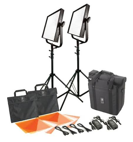 Litepanels 1x1 Daylight Flood and Spot Light Kit w/stands