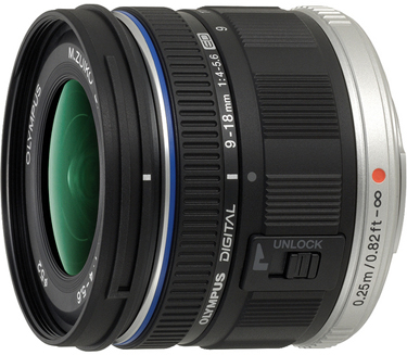 Olympus ED 9-18mm f/4.0 -5.6 Lens for Micro Four Thirds