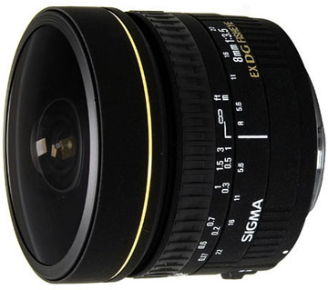 Sigma 8mm f/3.5 EX DG Fisheye for Canon