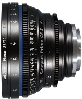 Zeiss Compact Prime CP.2 85mm/T2.1 PL Mount