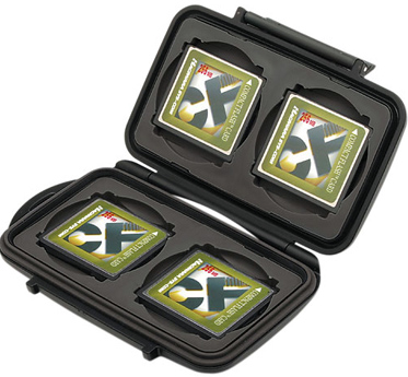 Pelican Memory Card Case - for Four Compact Flash Memory Cards