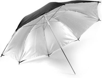 "AlienBees 48"" Silver White Reversible Umbrella"
