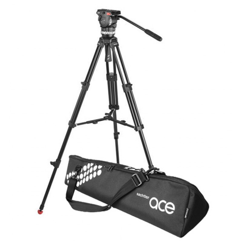 Image for product Sachtler-Ace-M-Fluid-Head-with-2Stage-Aluminum-Tripod--MidLevel-Spreader