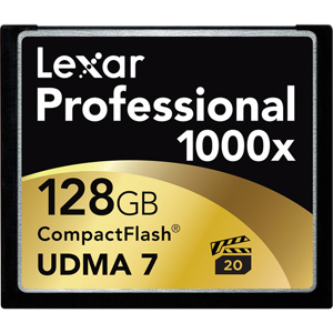 Image for product 128GB-1000x-UDMA-CompactFlash-Memory