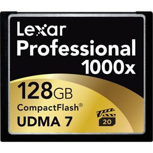 128GB 1000x UDMA CompactFlash Memory