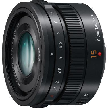 Panasonic Lumix G Leica DG Summilux 15mm f/1.7 Lens for Micro 4/3