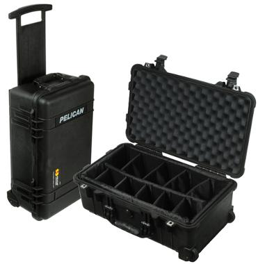 Pelican Carry On 1510 Case with Dividers (Black)