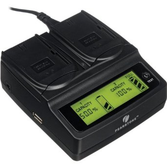 Image for product Pearstone-Duo-Battery-Charger-for-Canon-BP955-BP970