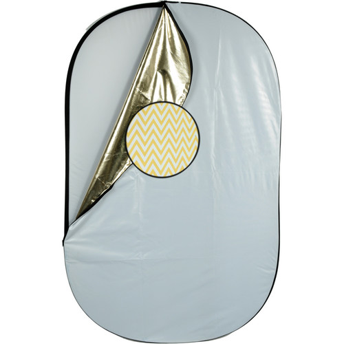 Impact 5-in-1 Collapsible Oval Reflector - 42x72""