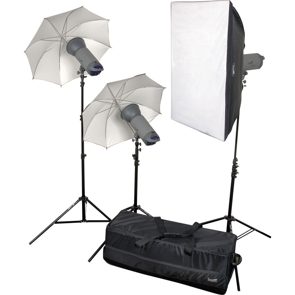 Impact 1500 Ws Three Monolight Kit