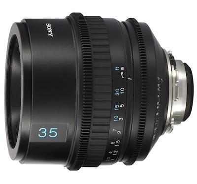 Sony Prime 35mm T2.0 PL Lens