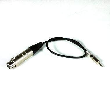 3-pin XLR Female to Stereo Mini-Jack 3.5mm adapter