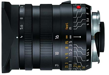 Leica 16-18-21mm f/4.0 Super Wide Angle Manual Focus Lens