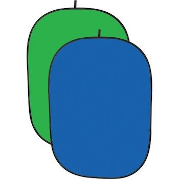 Impact Collapsible Backdrop 5x7 ft Chroma Blue Chroma Green