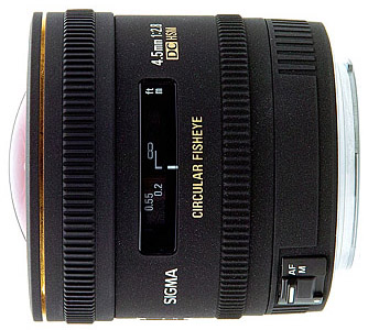 Sigma 4.5mm f/2.8 EX DC HSM Fisheye for Nikon
