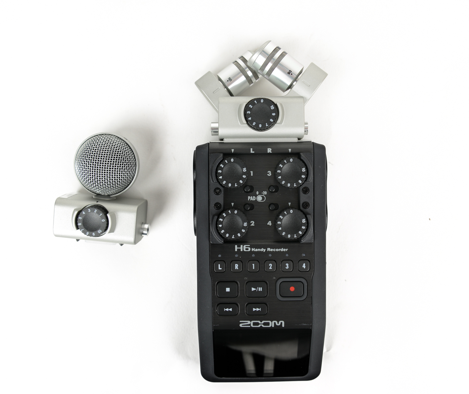 Zoom H6 Handy 6-Track Recorder with Interchangeable Microphone