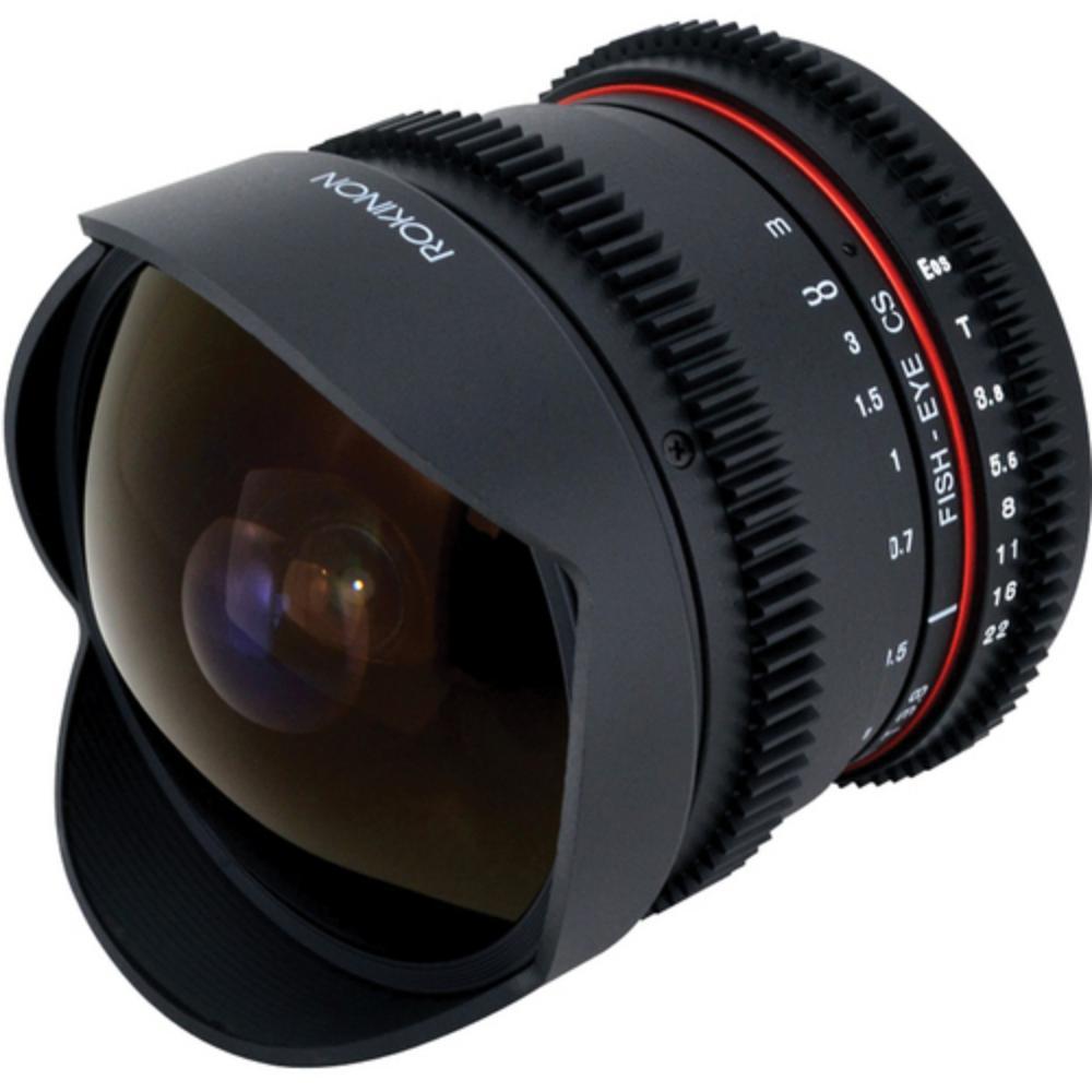 Rokinon 8mm t3 8 fisheye cine lens rentals canon lens for Fish eye camera