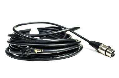 EXF Series Mini Male to 3-Pin XLR Female Cable - 25'