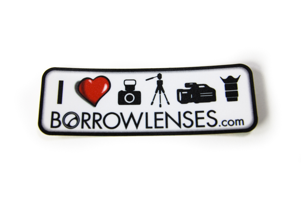 BorrowLenses.com Sticker of Love